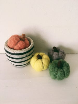 Image of Set of three felted Pumpkins