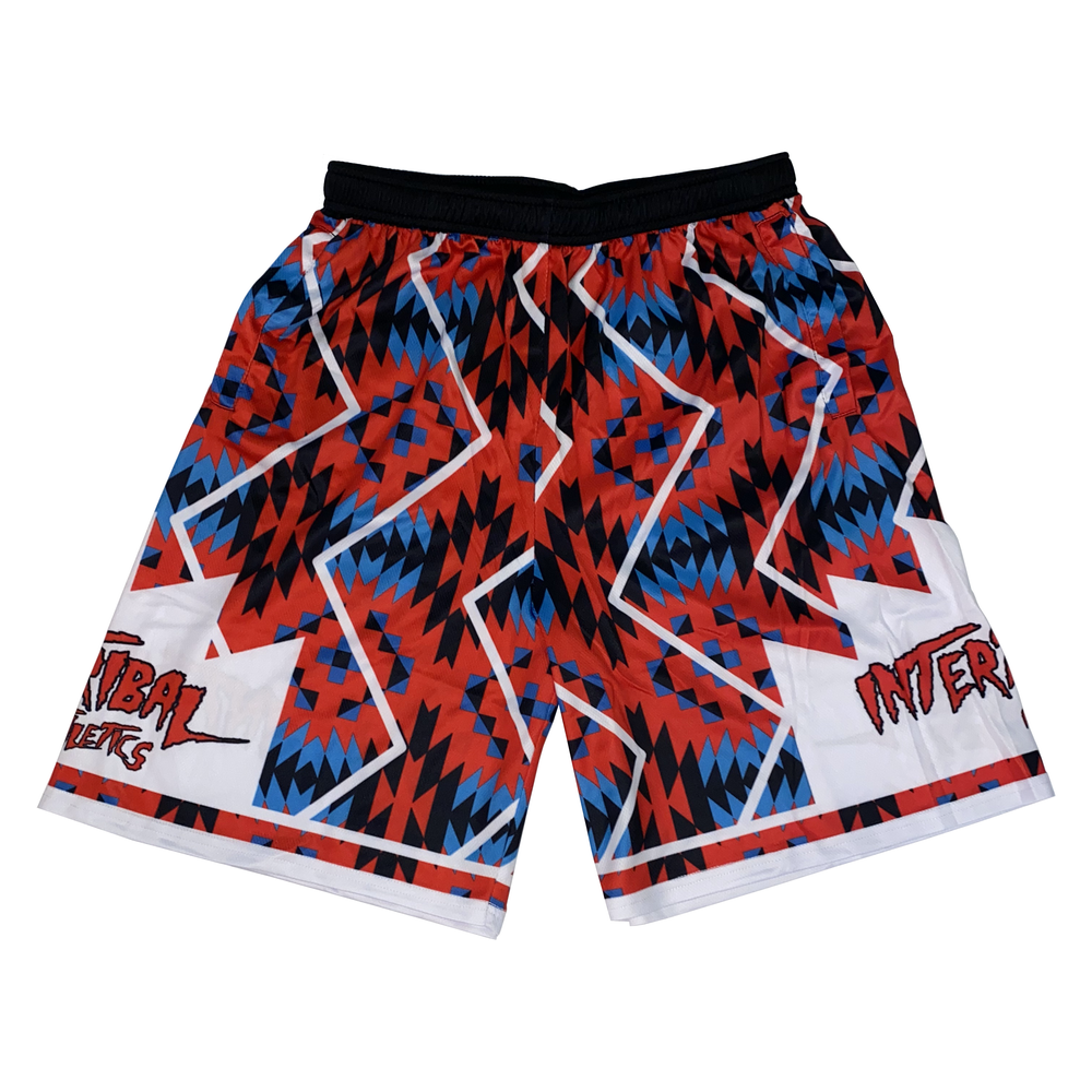 Image of Red/Blue Tribal Shorts