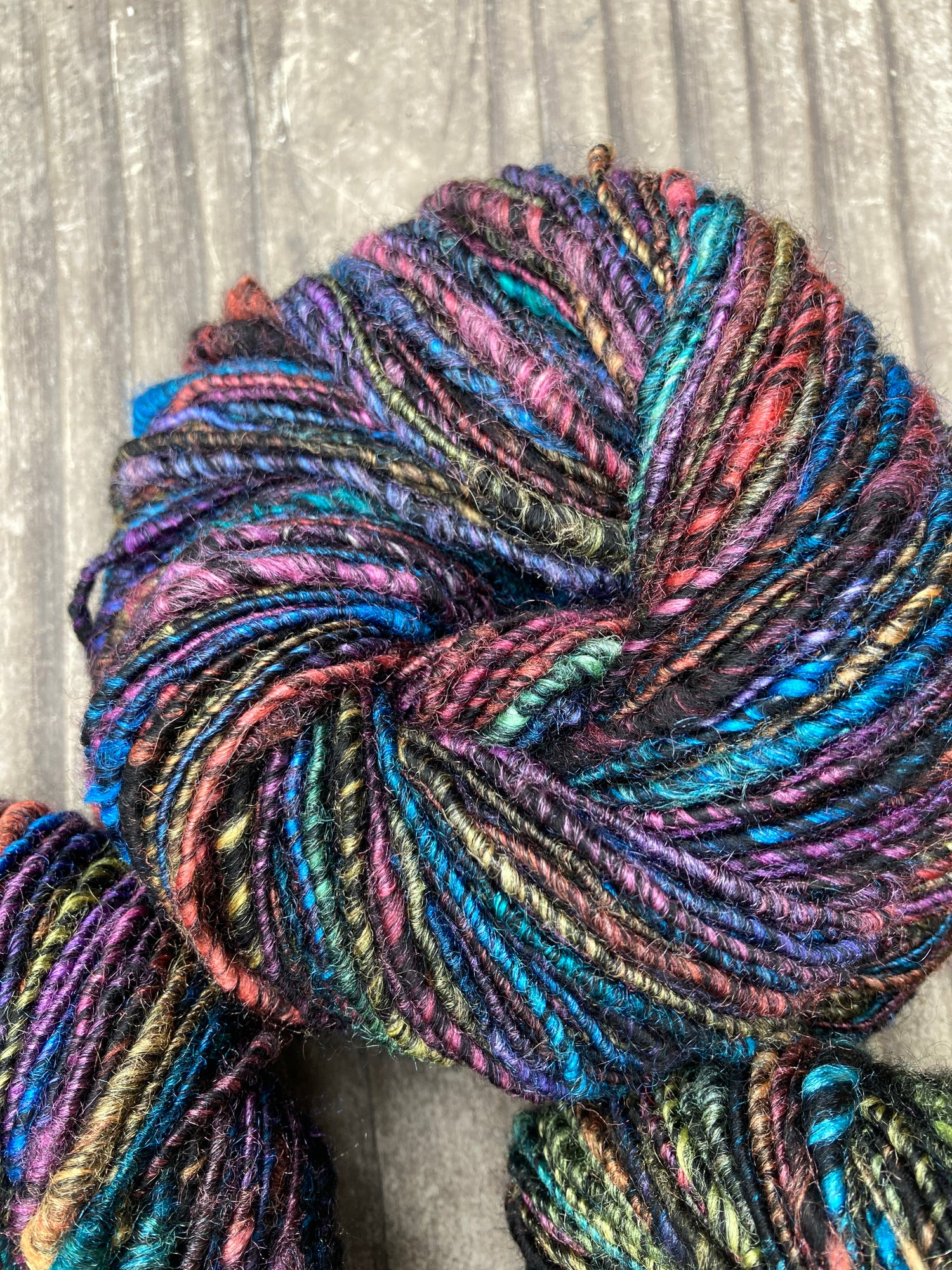 Image of Goth Rainbow Handspun Yarn