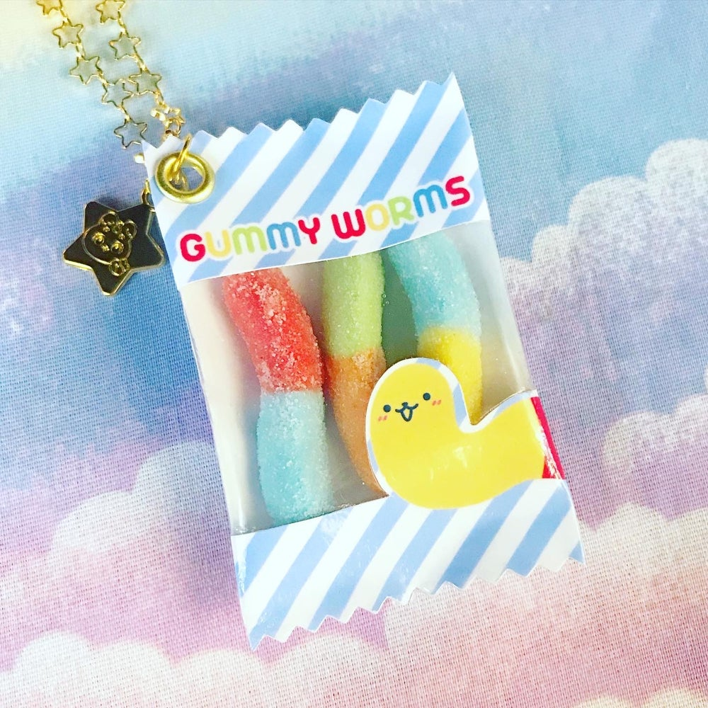 Gummy Worms Charm