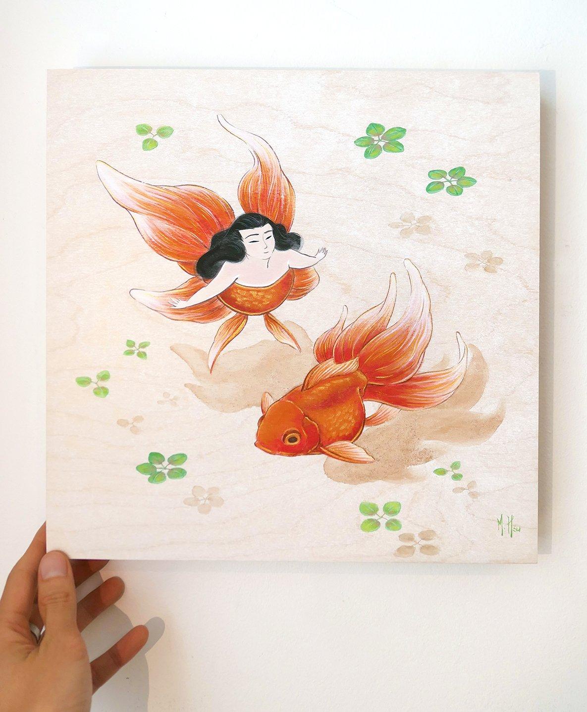 Goldfish Keeping Original Painting
