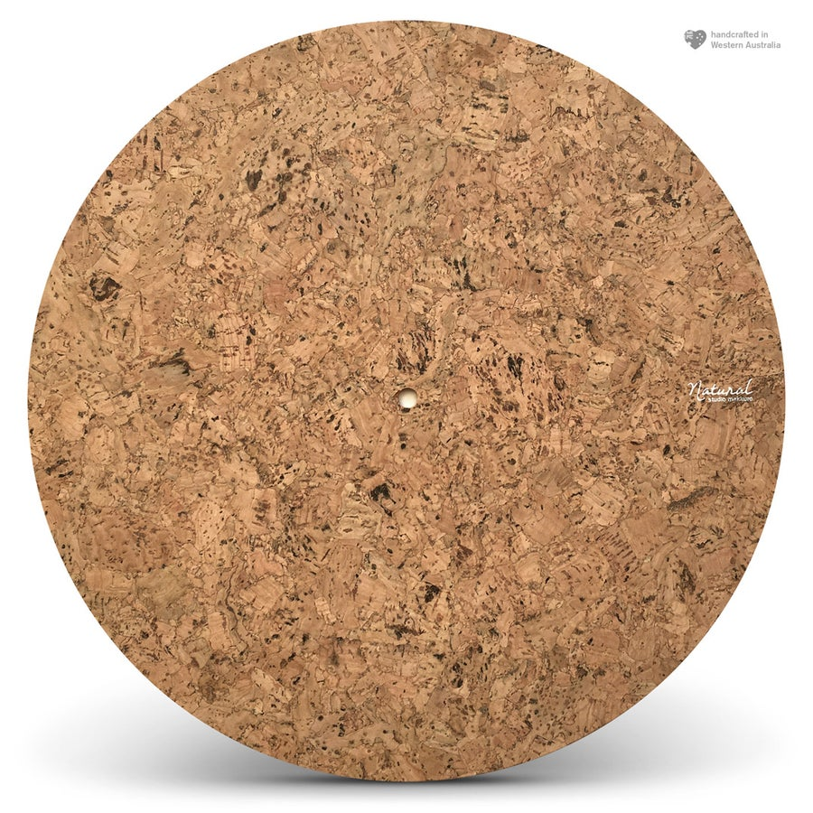 Image of Natural. Autum grain cork turntable mat