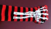Image of red 2 sided skeleton glove