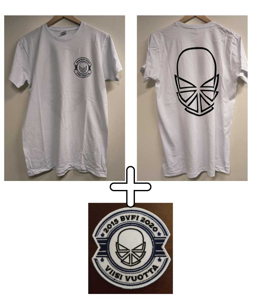 Image of BVFI five year anniversary T-shirt + Patch