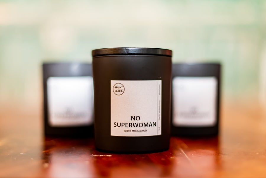 Image of The New NoSuperwoman Candle, by Bright Black Candle