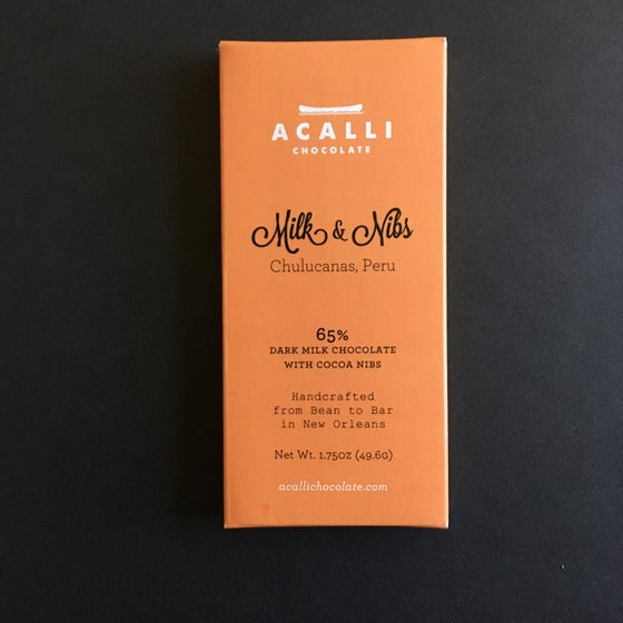 Image of Acalli Chocolate 65% Dark Milk Chocolate with Nibs