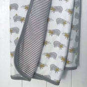 Image of Badger Print Organic Baby Blanket