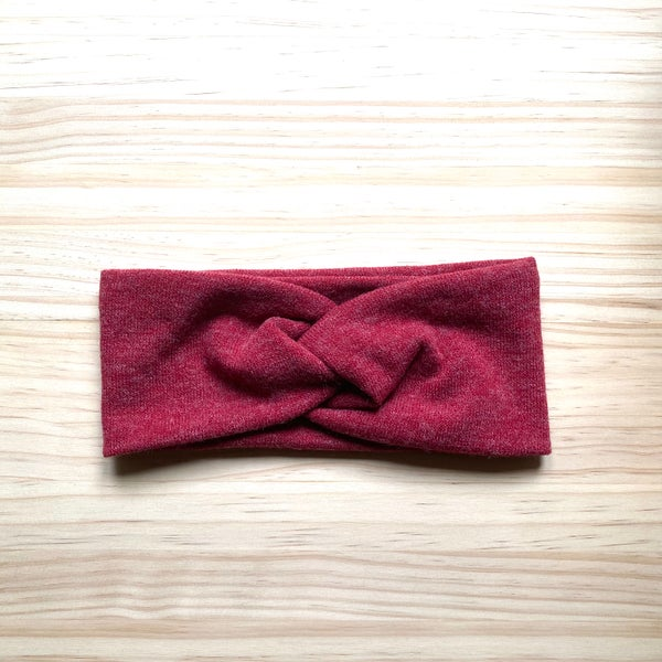 Image of Cinta de pelo punto lana roja