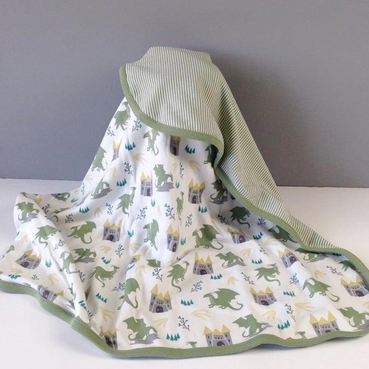 Image of Fairytale Dragon Organic Cotton Blanket