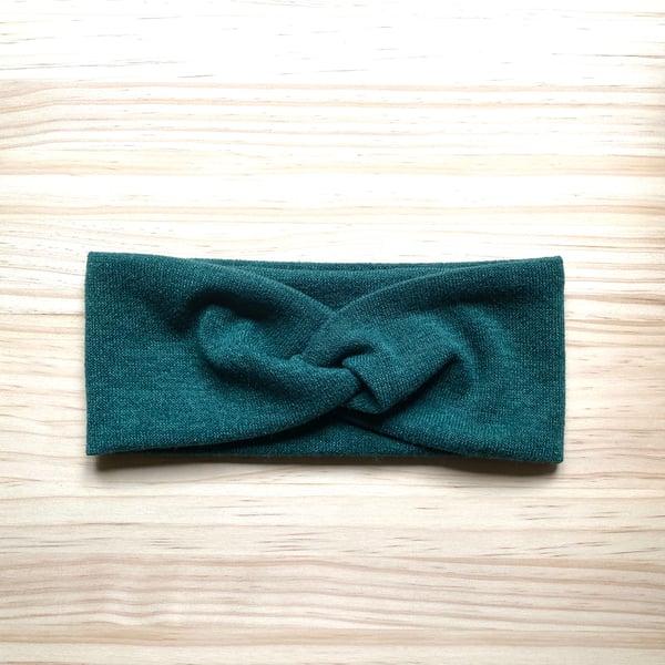 Image of Cinta de pelo punto lana verde