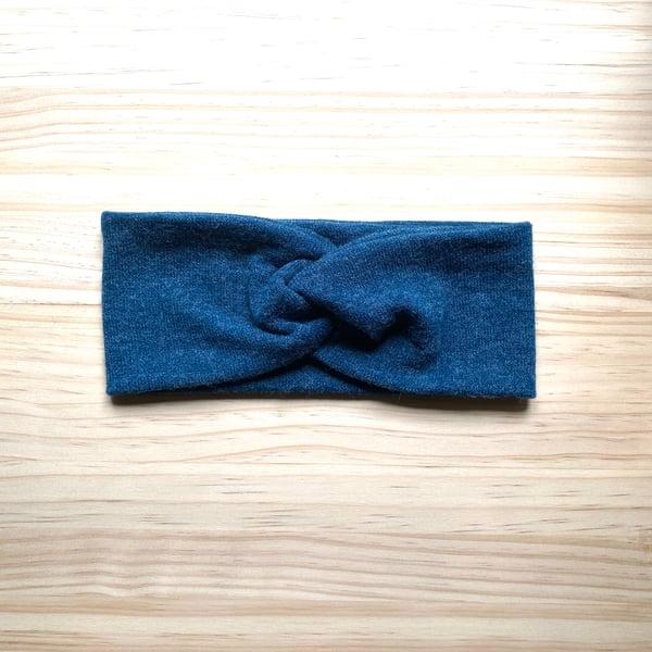 Image of Cinta de pelo punto lana azul