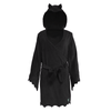 Bat Bath Robe - Moonless Night