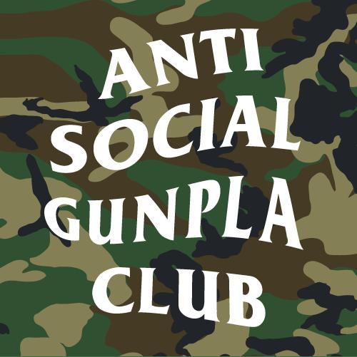 "Image of Anti Social Gunpla Club - 3x3"" vinyl sticker"