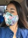 Floral Drip Mask - Vintage Ralph Lauren Fabric