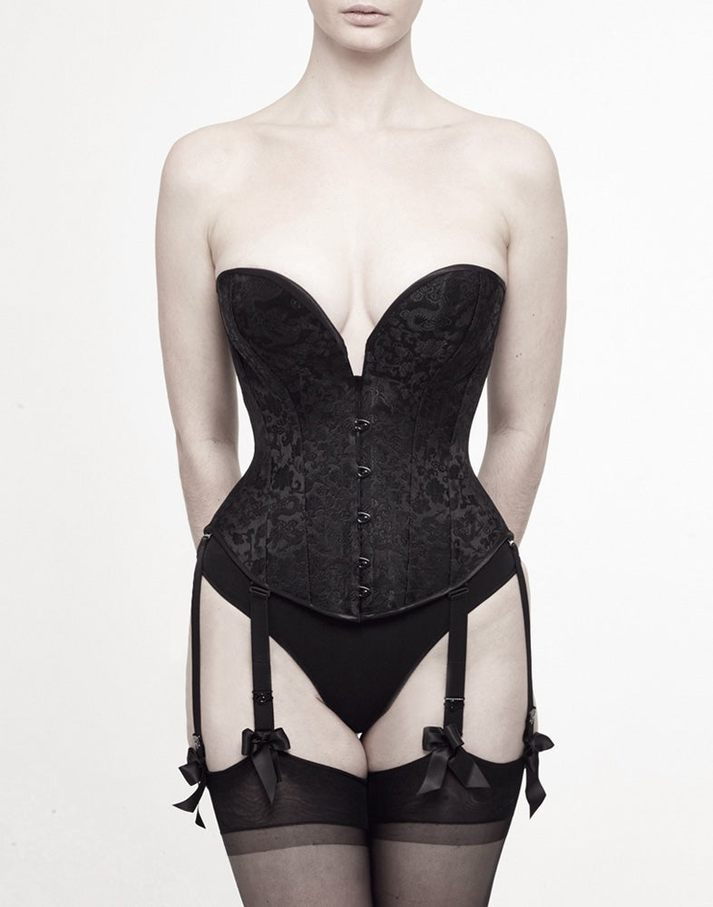 Image of CELESTE  SILK BROCADE CORSET