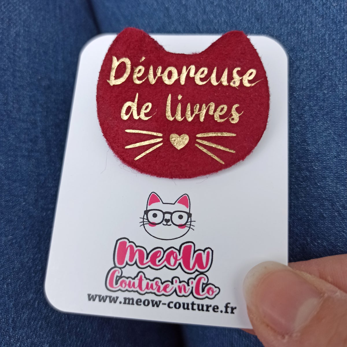 Image of Broche Dévoreuse de livres