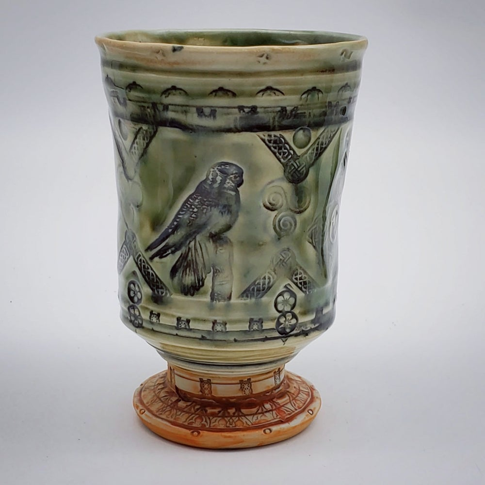 Image of Porcelain Merlin Falcon Goblet