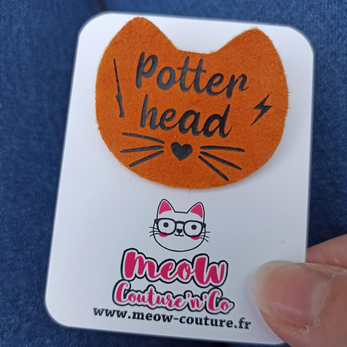 Image of Broche Potter head - Pouf.