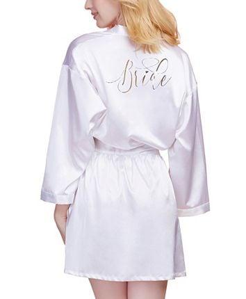 #Bride Satin Robe S-2X