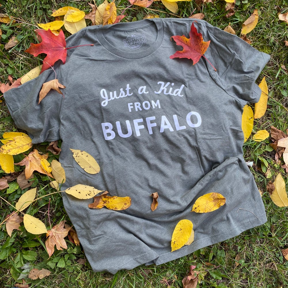 Image of Just a Kid From Buffalo Tee Heather Green