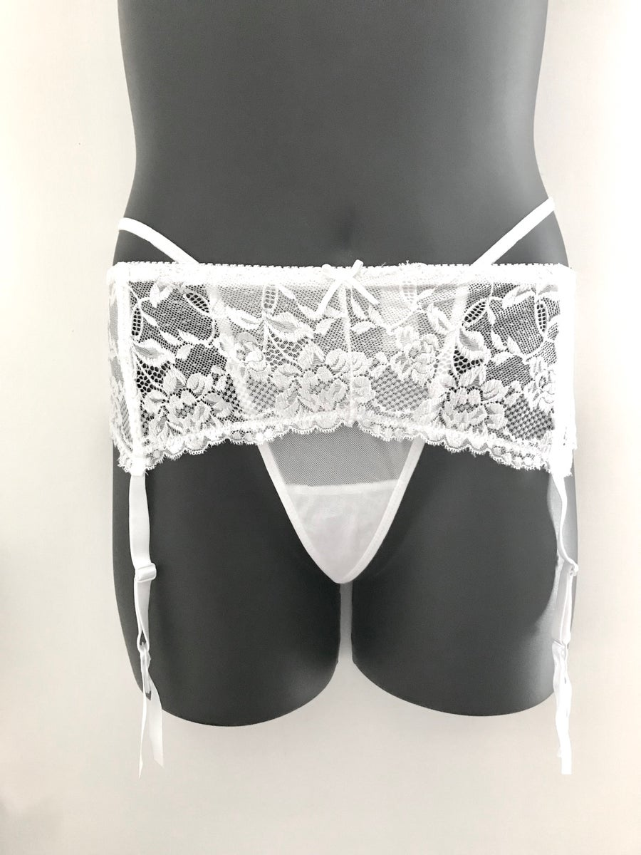 Image of #WithMe Lace Garter Belt w/ G-string Set Plus