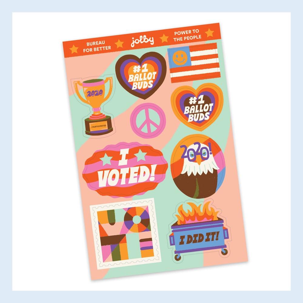 "Image of ""I Voted"" Sticker Sheet"