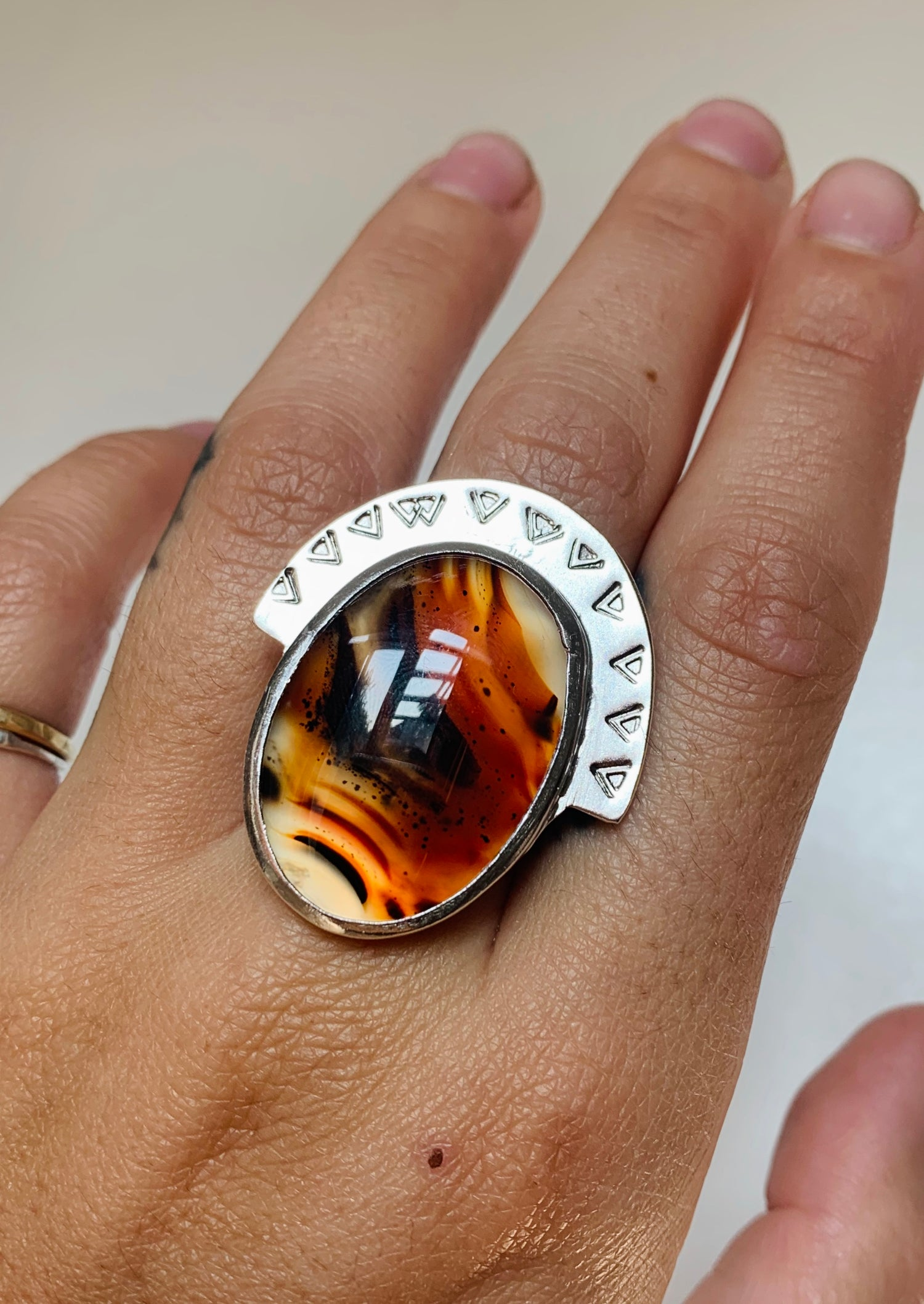 Image of Montana Agate Crown Ring