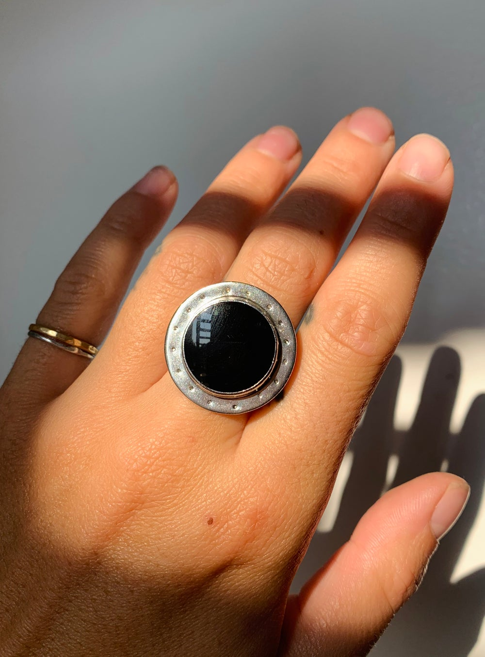 Image of Onyx Portal Ring