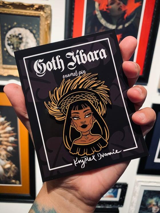Image of Goth Jíbara enamel pin (PRE-ORDER )