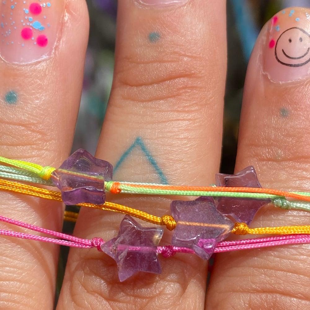 Image of amethyst star  bracelet