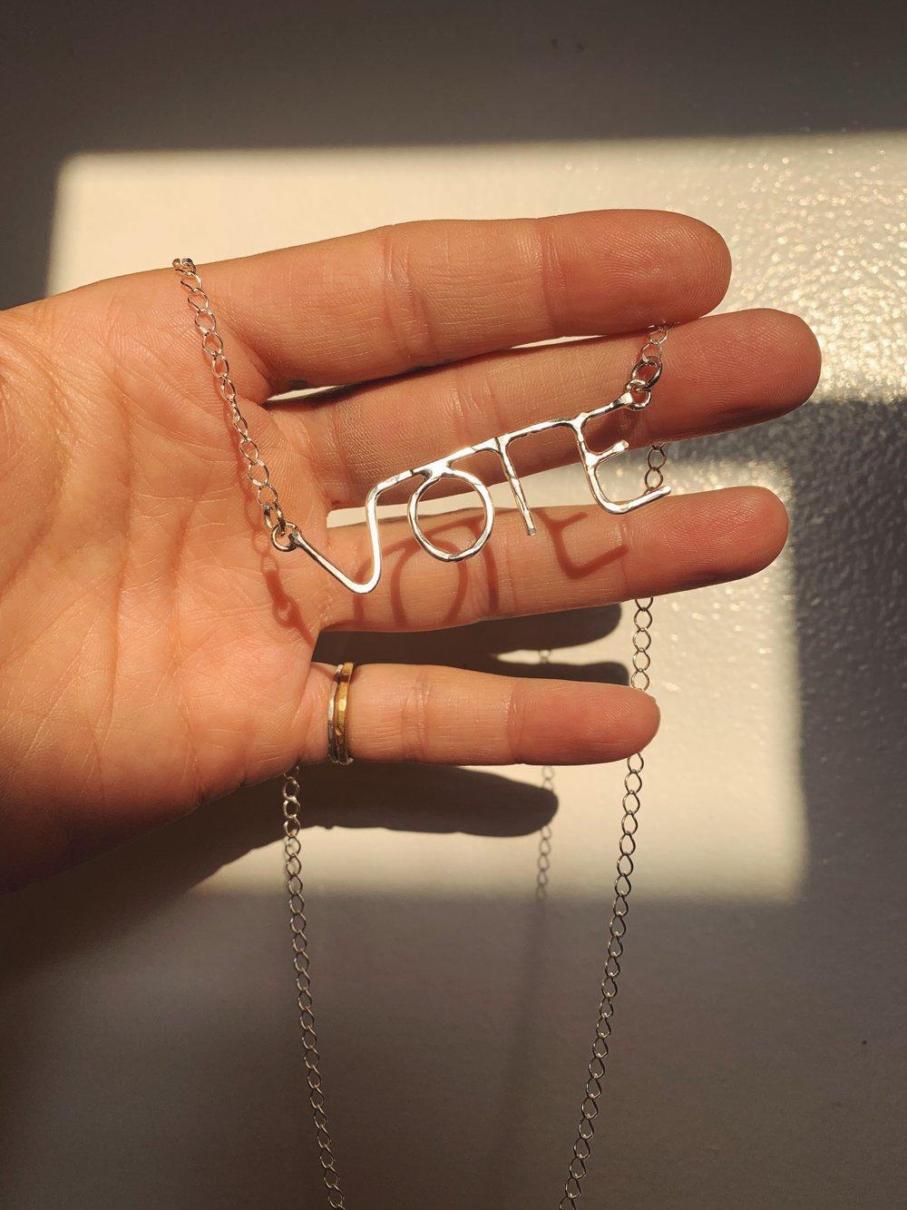 Image of V-O-T-E  Necklace