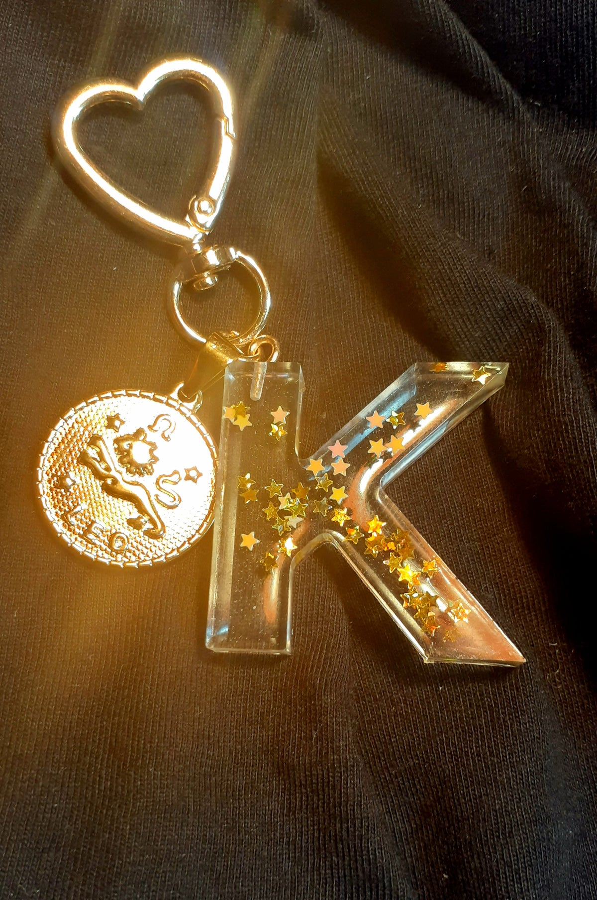 Image of Heart of Gold Zodiac Keychain