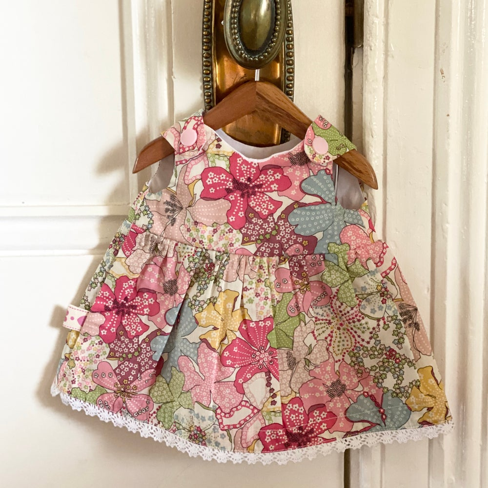 Image of Liberty dress to suit 38cm Miniland Doll - Mauvey