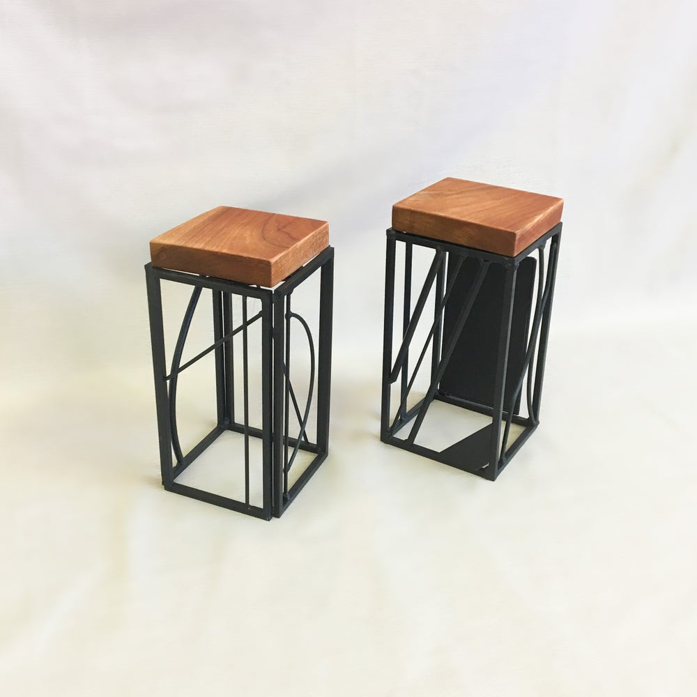 Welded Pair of Decorative Stands
