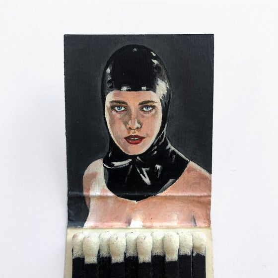 Image of 'Black Rose' Matchbook Painting