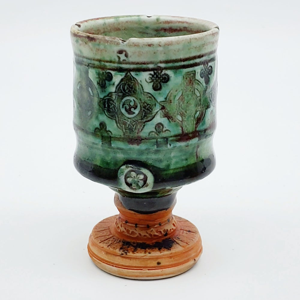 Image of Emerald Celtic Porcelain Woodfired Chalice