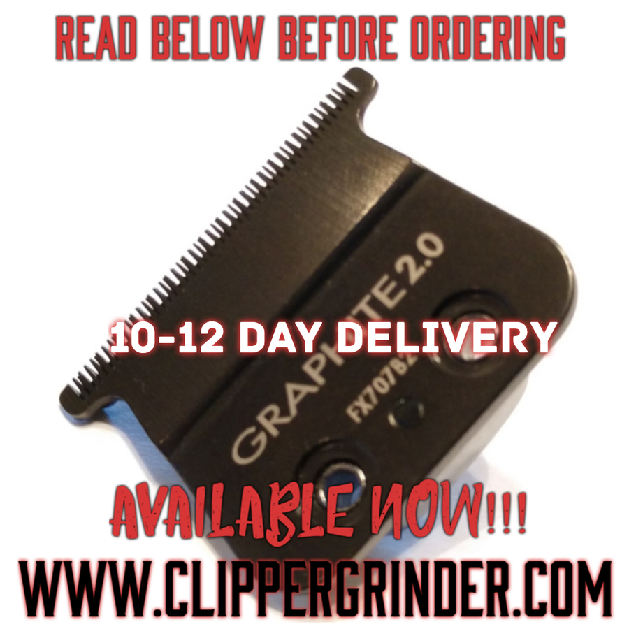 """Image of (10-12 Day Delivery/Expedited) Graphite """"Modified"""" Babyliss Skeleton Blade"""