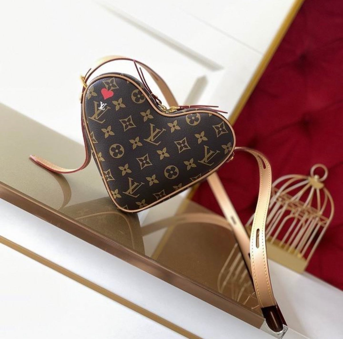 Image of LV Mono Heart Shoulder Bag