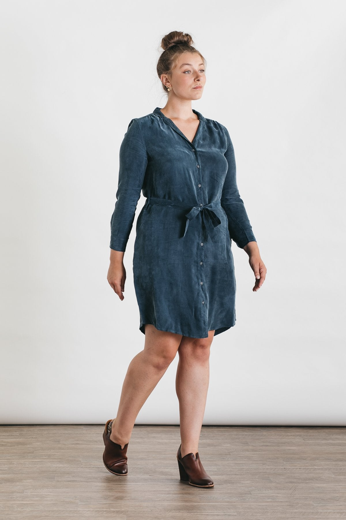 Image of Emery Dress -Pewter Blue