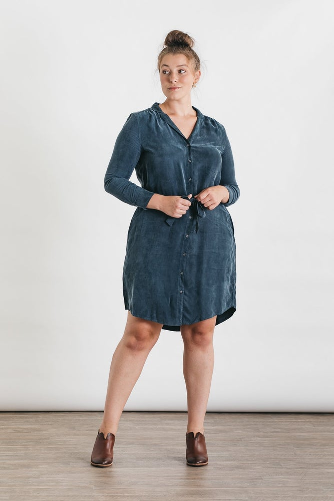 Image of Emery Dress -Pewter Blue