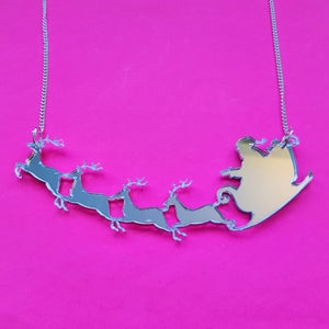 Image of Santa's Sleigh Necklace