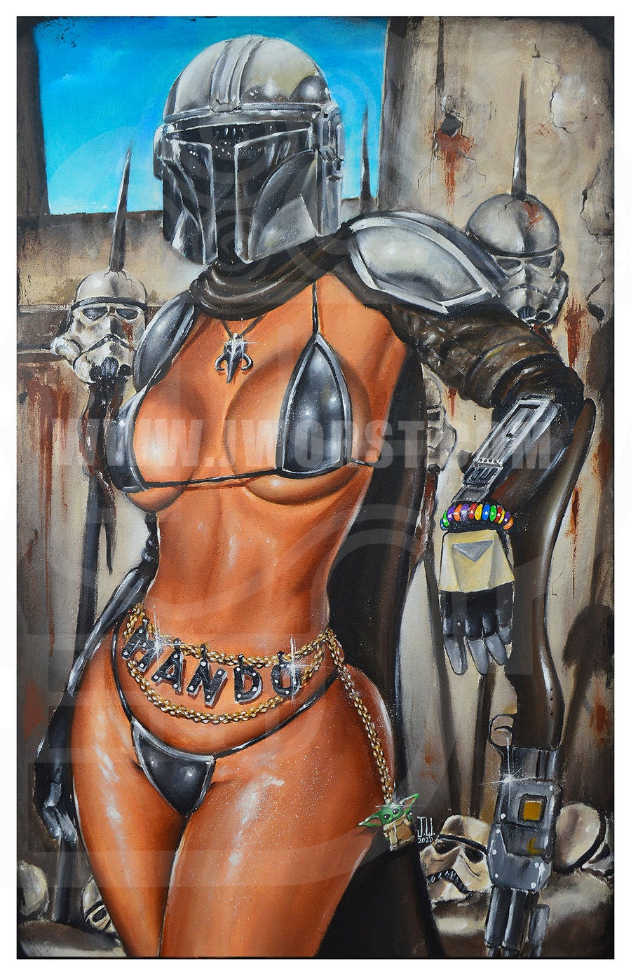 Image of Mando by Jeremy Worst Themandalorian