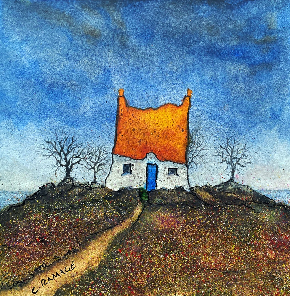 Image of Little Cottage By The Sea (Orange Roof & Blue Door)