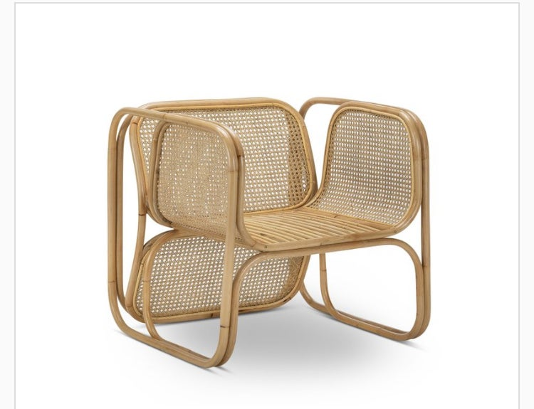 Image of Rattan lounge chair