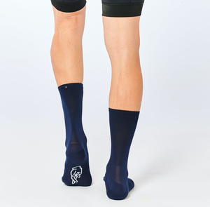 Image of FINGERSCROSSED Classic NAVY Cycling Socks
