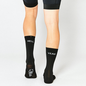 Image of FINGERSCROSSED HELL YEAH 1.0 Black Cycling Socks