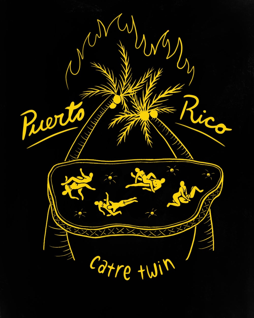 Image of Puerto Rico Catre Twin T-SHIRT