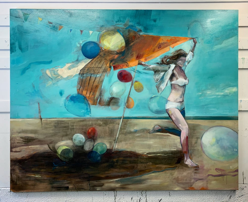 "Image of Painting / maleri / ""The celebration – Lost in celebration 5"" / 195x155 cm"