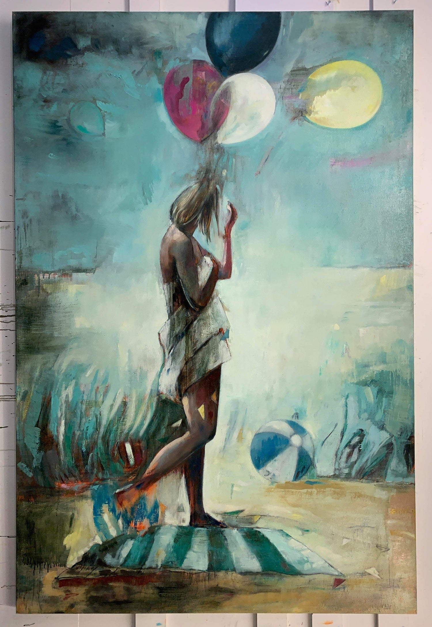 "Image of Painting / maleri / ""The celebration – Lost in celebration 8"" / 120x180 cm"