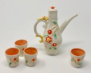 Image of Sake Pourer and 4 o-choko (cups)